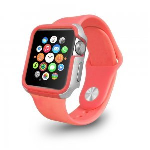 Чехол Ozaki O!coat-Shockband розовый для Apple Watch 38мм