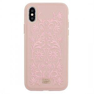 Кожаный чехол Luna Aristo Bess розовый для iPhone X/XS