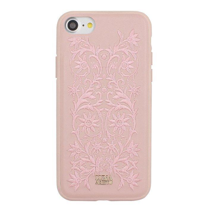 Кожаный чехол Luna Aristo Bess розовый для iPhone 7/8/SE 2020