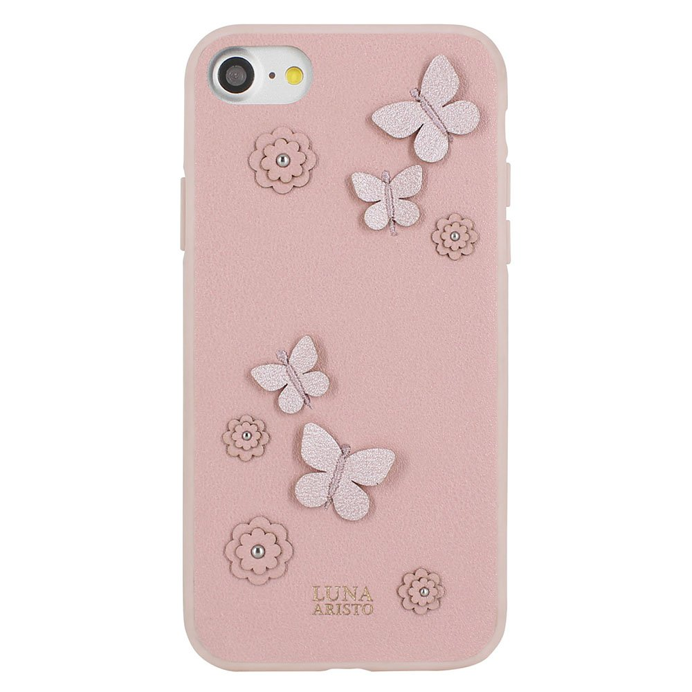 Кожаный чехол Luna Aristo Dale розовый для iPhone 7/8