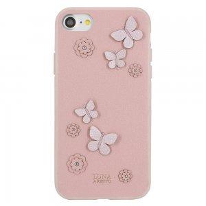 Кожаный чехол Luna Aristo Dale розовый для iPhone 7/8/SE 2020