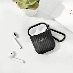 Чехол Pitaka AirPal Mini черный+серый для Airpods