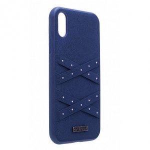 Чехол Polo Abbott синий для iPhone X/XS