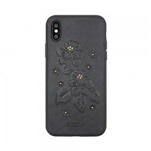 Кожаный чехол Polo Azalea черный для iPhone X/XS