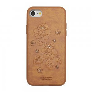 Кожаный чехол Polo Azalea коричневый для iPhone 7 Plus/8 Plus