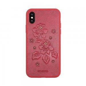 Кожаный чехол Polo Azalea красный для iPhone X/XS