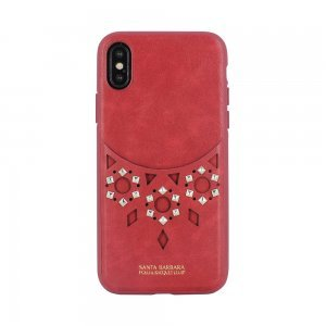 Кожаный чехол Polo Brynn красный для iPhone X/XS