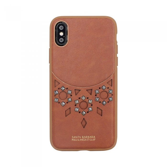 Кожаный чехол Polo Brynn коричневый для iPhone X/XS