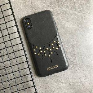 Кожаный чехол Polo Brynn черный для iPhone X/XS