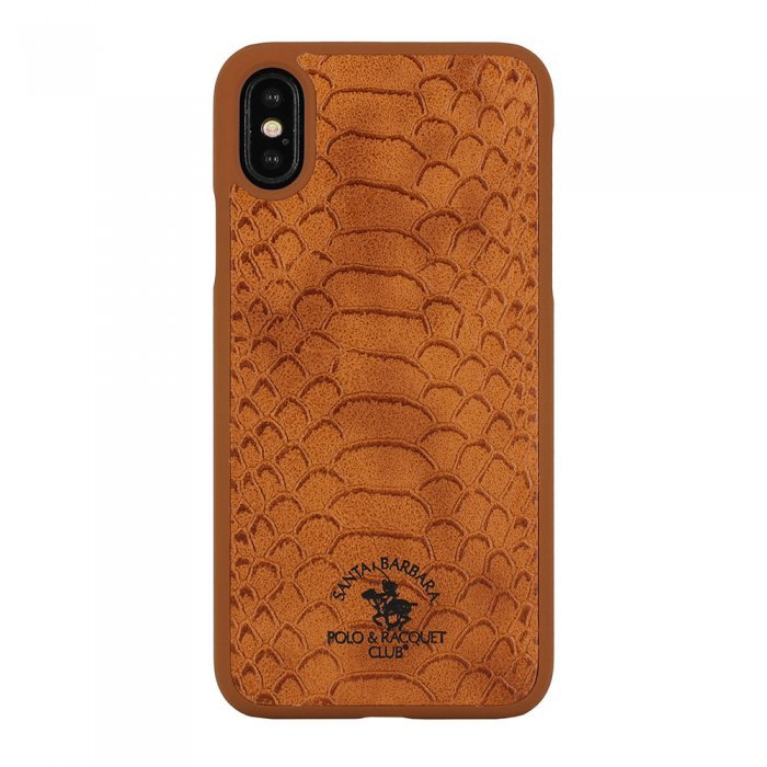 Чехол Polo Knight коричневый для iPhone XS Max