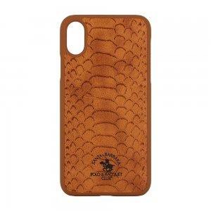 Кожаный чехол Polo Knight коричневый для iPhone X