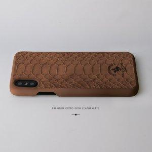 Кожаный чехол Polo Knight коричневый для iPhone X/XS
