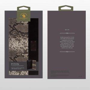 Кожаный чехол-кошелек Polo Piton черный для iPhone 5/5S/SE/6/6S/7/7 Plus/8/8 Plus/X/XS/XR