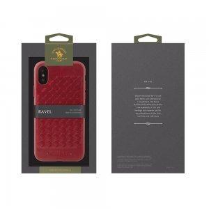 Кожаный чехол Polo Ravel красный для iPhone X