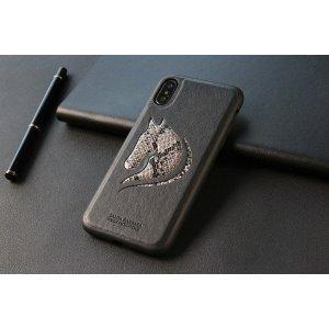 Кожаный чехол Polo Viscount черный для iPhone X/XS