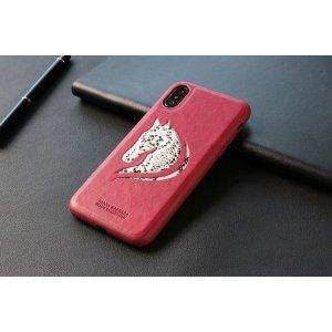 Кожаный чехол Polo Viscount красный для iPhone X/XS