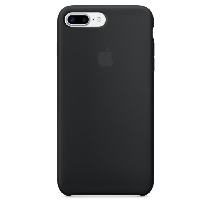 Силиконовый чехол черный для iPhone 8 Plus/7 Plus