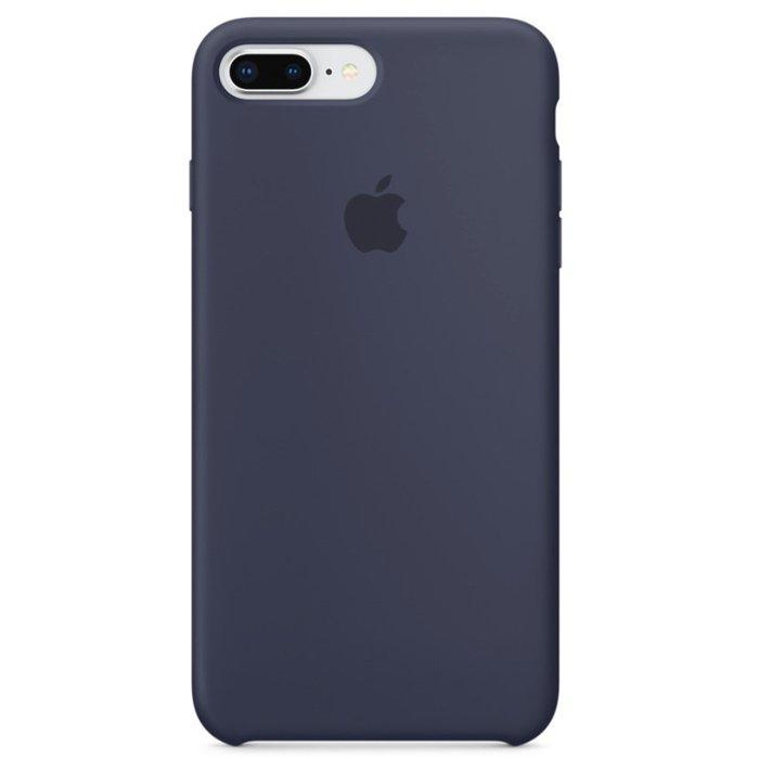 Силиконовый чехол темно-синий для iPhone 8 Plus/7 Plus