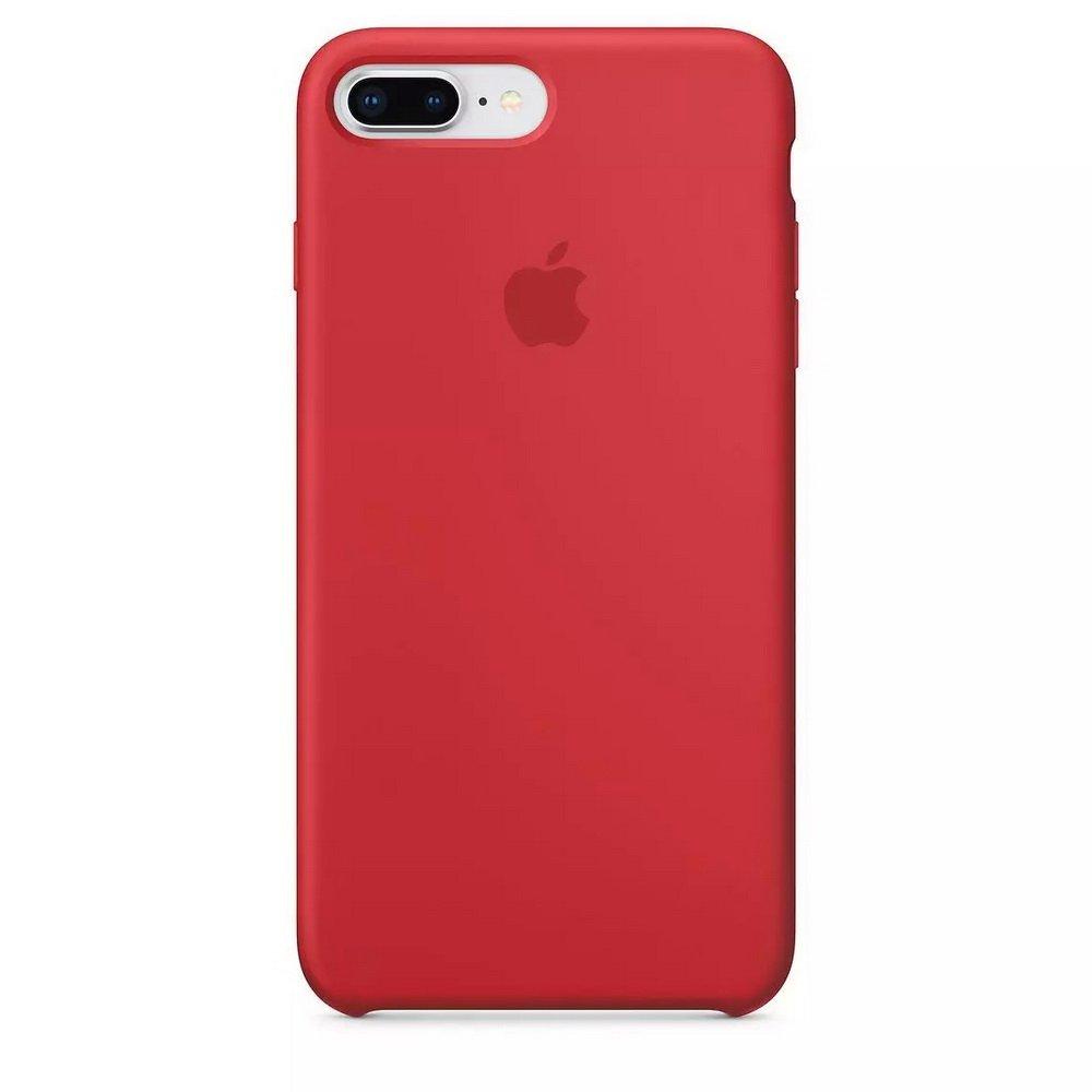 Силиконовый чехол красный для iPhone 8 Plus/7 Plus