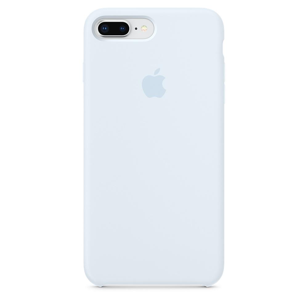 Силиконовый чехол небесный синий для iPhone 8 Plus/7 Plus