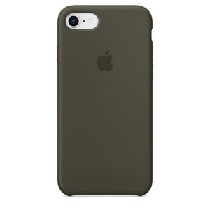 Чехол Apple Silicone Case темно-зелёный для iPhone 8/7 (реплика)
