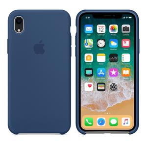 Силиконовый чехол синий для iPhone XR
