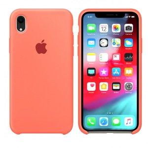 Чехол Apple Silicone Case оранжевый для iPhone XR (реплика)