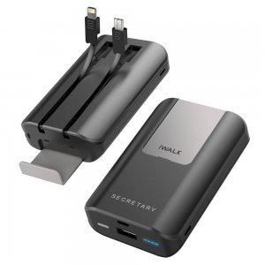 Внешний аккумулятор iWalk Secretary Plus 10,000mAh серый