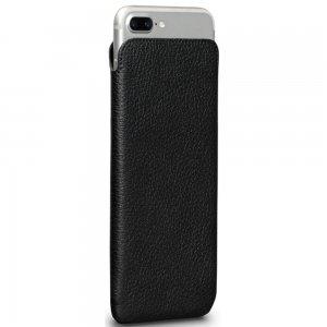 Кожаный чехол Sena Ultraslim Classic чёрный для iPhone 6 Plus/7 Plus/8 Plus
