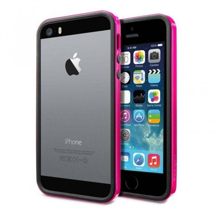Бампер SGP Neo Hybrid EX розовый для iPhone 5/5S/SE