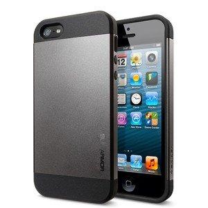 Чехол-накладка для Apple iPhone 5/5S - SGP Slim Armor черный