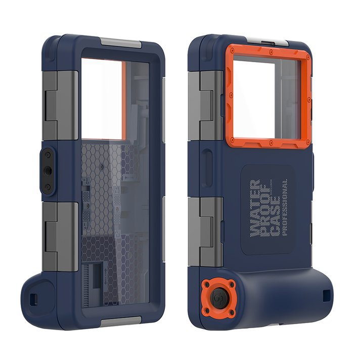 Чехол для дайвинга Shellbox QSK-2 Waterproof Diving Case (Solid Cover) синий
