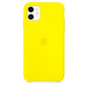 Силиконовый чехол лимонный для iPhone 11