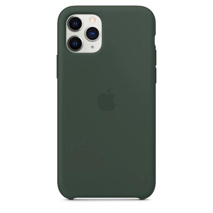 Силиконовый чехол зелёный для iPhone 11 Pro Max