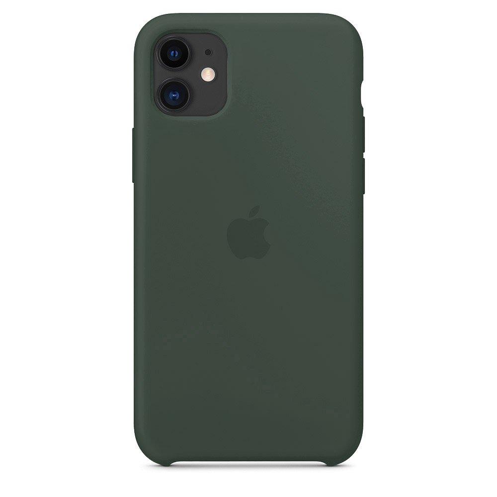 Силиконовый чехол зелёный для iPhone 11