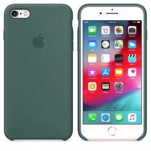 Силиконовый чехол зелёный для iPhone 6/6S