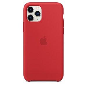 Силиконовый чехол красный для iPhone 11 Pro