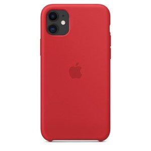 Силиконовый чехол красный для iPhone 11