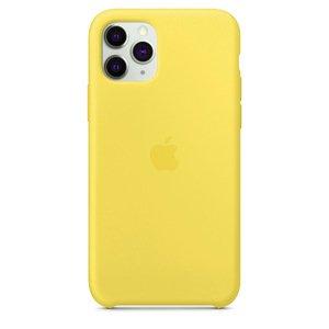 Силиконовый чехол желтый для iPhone 11 Pro