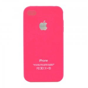 Чехол-накладка для Apple iPhone 4/4S - Silicone Creative розовый