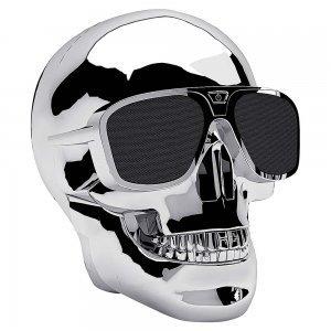 Портативна акустика Skull Wireless Bluetooth срібляста