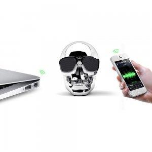Портативная акустика Skull Wireless Bluetooth серебристая