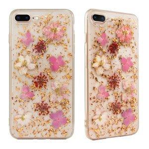 Чехол SwitchEasy Flash прозрачный с розовыми цветами для iPhone 8 Plus/7 Plus