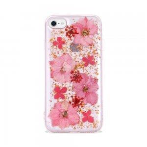 Чехол SwitchEasy Flash прозрачный с розовыми цветами для iPhone 8/7/SE 2020