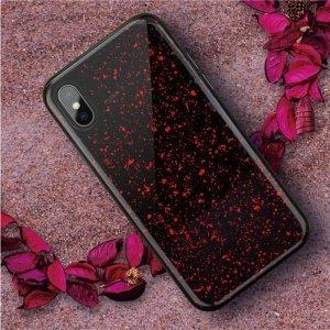 Чехол SwitchEasy Flash красный со звездами для iPhone X/XS