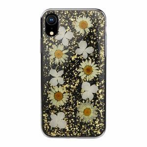 Чехол SwitchEasy Flash Daisy чёрный с ромашками для iPhone XR