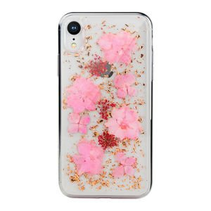 Чехол SwitchEasy Flash Luscious прозрачный с розовыми цветами для iPhone XR