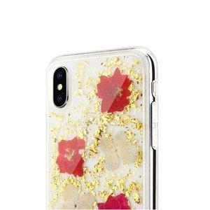 Чехол SwitchEasy Flash Florid прозрачный с красными цветами для iPhone X/XS