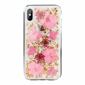 Чехол SwitchEasy Flash Luscious прозрачный с розовыми цветами для iPhone XS Max
