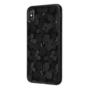 3D чехол Switcheasy Fleur чёрный для iPhone XS Max